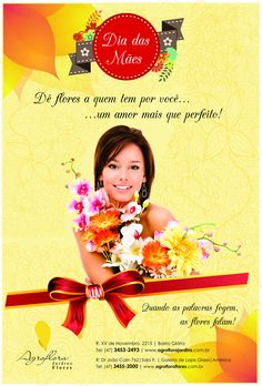 Folder Proocional Dia das Mães  Agroflora Jardins