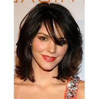hair style with bangs medium hairstyles for 50 8218