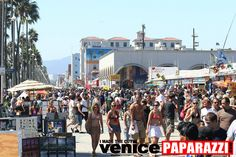 *Venice Beach, CA - Venice Beach Boardwalk. On the Westside are hundreds of street vendors and performers. You can see everything from break-dancing to broken glass walking. You can have your fortune read or get a temporary tattoo.  On the Eastside are the store fronts. Here you will find every sort of t-shirt under the sun.  In addition, there are tattoo and piercing stores, skate and surf shops, medical marijuana dispensaries and more.