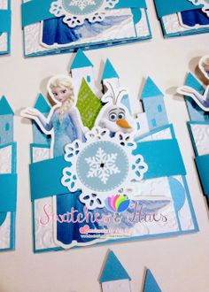 91 best handmade invitations images on pinterest in 2018 handmade frozen theme bendi fold birthday invitation filmwisefo