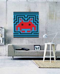 concrete wall, 80s print