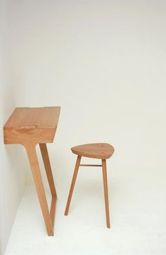 // Quello Table and Stool by Phil Procter