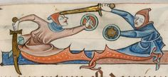 Detail from The Luttrell Psalter, British Library Add MS 42130 (medieval manuscript,1325-1340), f49r