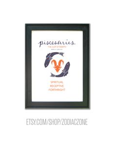 Pisces Aries Cusp Poster! Buy @ etsy.com/shop/zodiaczone #aries #pisces #cusp #cuspian #print #astrology #birth #birthday #zodiac #constellation #astrological  #chart #art #design #poster #wall #decor #illustration #design #poster
