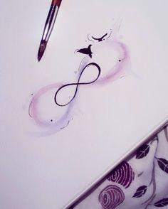 Watercolor infinity tattoo inspiration
