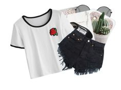 it hurts me to think of you // @babyprincessdarling by corruptedcolours on Polyvore featuring polyvore fashion style Vans Yves Saint Laurent clothing