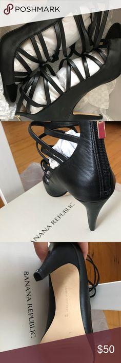 Banana Republic Black Heels Size 10; Worn Once Banana Republic Shoes Heels
