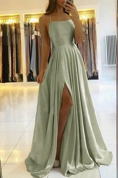 sage green prom dress cg21008