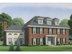 054H-0052: Colonial House Plan with Five Bedrooms