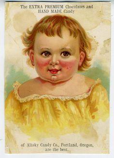 1890s Trade Card Alisky Candy Co Portland Oregon