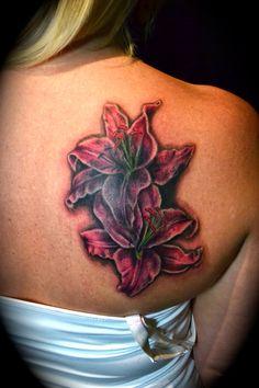 stargazer lily tattoo | Stargazer Lilies Cover | Monster Ink Tattoo of Sacramento