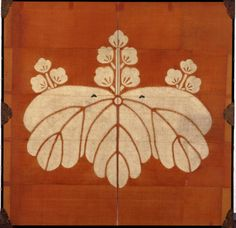 Paulownia Crest Curtain Screen.  Momoyama period, 16th century, Japan.Miho Museum, Japan. Formerly in the collection of the Nagao Museum