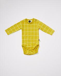 Mainio - Grid baby bodysuit - £17 www.mainioclothing.com