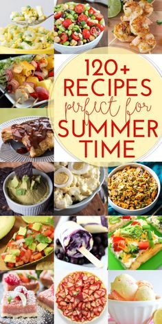 120+ Recipes for Summer ~ Everything from Potato Salad to Taco Dip to Your Favorite Steak Skewers! ~ http://www.julieseatsandtreats.com