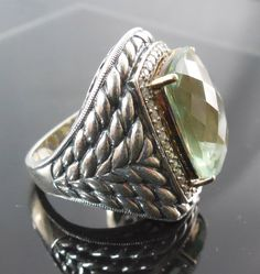 Sterling Silver 14K Gold Ring With Diamonds and by hatstoflats