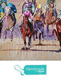 2015 KENTUCKY DERBY - Fine Art Giclee Print 12 x 18 Inch from Original Acrylic Horse Racing Painting of Triple Crown Winner American Pharoah from Art by Connie https://www.amazon.com/dp/B018XYZ3O2/ref=hnd_sw_r_pi_dp_E3Pyyb2T3QR3P #handmadeatamazon