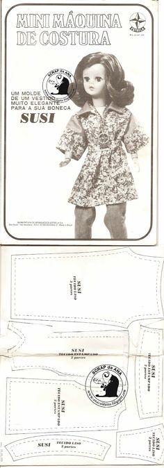 Ana Caldatto : Molde de Roupa da antiga Boneca Susi e Manual Mini maquina de costura