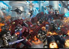 Done for Games Workshop's Mont'ka book. Tau vs RavenGuard. Games Workshop - All Rights Reserved
