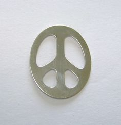 Nickel Silver Stamping Blanks Peace Sign 1 1/4 Inch 24ga Pkg Of 4 Supplies $5.99