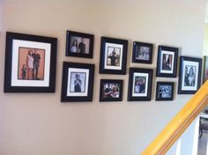 Photo wall layout 4:   11x14 4:    8x10 2:    16x20