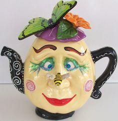Cybillsceramics.   Lady Teapot