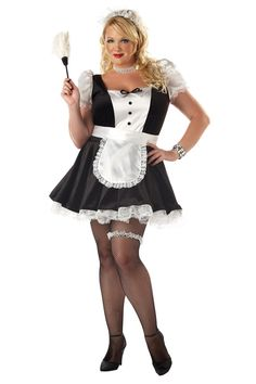 French Maid Outfit (Plus Size) Halloween costume Adult Costumes, Costumes For Women, Halloween Costumes, Maid Halloween, Maid Costumes, Halloween City, Whimsical Halloween, French Maid Lingerie, Sexy Lingerie