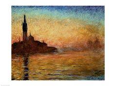 Claude Monet - View of San Giorgio Maggiore, Venice by Twilight