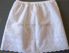 she wears flowers: Proper Little Ladies - directions on sewing a girl's slip