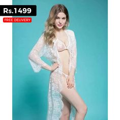 bb540bc3e47 White Net Embellished Nighty with Long Gown for Rs.1499 Only Bridal  Nightwear