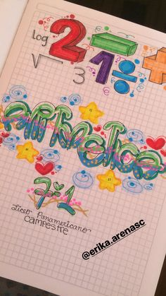 Cuaderno Letra Timoteo #ideas #frases #decoracion #manualidades Project Cover Page, Notebook Binder, World Book Day Costumes, Diy Back To School, School Notes, Happy Kids, Hand Lettering, Coloring Pages, Diy And Crafts
