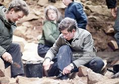 News Photo : Prince Charles working on an archaeological dig...