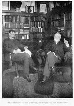 Biblioteca particular de Andrew Carnegie, em sua mansão em Manhattan, Nova York, NY, USA.
