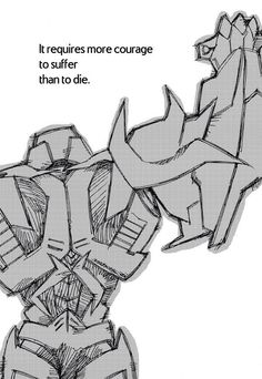 I'm not really a Megatron sympathizer but those words hit you deep. Transformers Prime - Your Are Missed