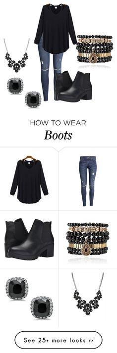 """Black boots"" by truedirectioner-belieber on Polyvore featuring H&M, Steve Madden and Samantha Wills"
