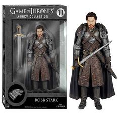 This is a Robb Stark action figure that is produced by Funko. The Robb Stark action figure is 6 inches in scale and part of Funko's Legacy Collection line of action figures. The Legacy Collection is F