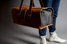 This bag is a masterpiece design and the traditional Italian craftsmanship can be seen all over. The casual yet über smart fitting to every style. Made from premium vegetable tanned leather and heavy duty wool. The bag is sized to be used as carry-on luggage. The large double compartments are reinforced at all the right places and the superior double …