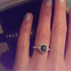 Pin for Later: 44 Real-Girl Engagement Rings So Unique Everyone Will Be in Awe Black Diamond