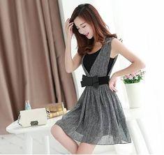 Resultado de imagen para vestidos casuales fashion korea Korean Fashion Dress, Fashion Dresses, Pretty Dresses, Beautiful Dresses, Girls Dresses, Summer Dresses, Formal Dresses, Girl Fashion, Womens Fashion