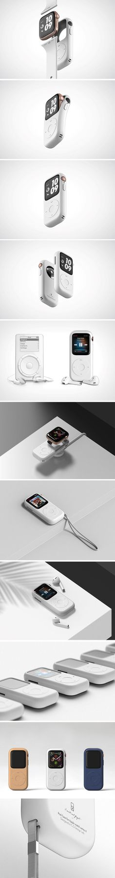 Joyce Kang and C.O Design Lab's Pod Case gives the Apple Watch a retro twist. The watch's screen roughly matches the screen size found in classic iPod Nanos, and its body is only slightly thicker. Technology Design, Cool Technology, Technology Apple, Technology Gadgets, Yanko Design, Design Lab, Design Ideas, Gadgets And Gizmos, Cool Gadgets
