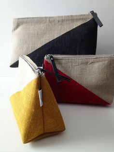 Modern Palm Boutique: New in Shop :: The Sasha Linen Cosmetic Bags