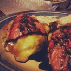 Heat's Kitchen: Roasted Red Pepper Balsamic Portobello Burger
