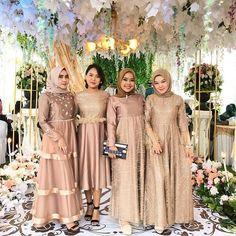 Dress Brokat Muslim, Dress Brokat Modern, Dress Pesta, Kebaya Muslim, Muslim Dress, Kebaya Brokat, Hijab Dress Party, Hijab Style Dress, Hijab Wedding Dresses