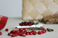 Pomegranate and cheese