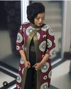 Latest Ankara Kimono Styles 2018 : The Most Recent African Dresses - African Fashion Dresses African Fashion Ankara, Latest African Fashion Dresses, African Dresses For Women, African Print Dresses, African Print Fashion, Africa Fashion, African Attire, African Wear, African Women