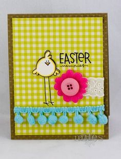 Cute way to use one simply image and have a great card layout!