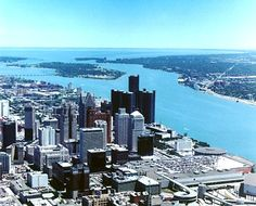 Detroit, Michigan, USA - same road trip as Windsor, Ontario - separated by the Detroit River.
