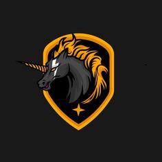 Check out this awesome 'Black+unicorn' design on Logo Desing, Game Logo Design, Logo Esport, Art Logo, Unicorn Logo, Logos Retro, Esports Logo, Black Unicorn, Creative Poster Design