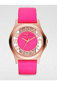 Marc By Marc Jacobs Henry Skeleton Rose Gold Finished Stainless Steel Strap Watch Pink Strap - Lyst | lyst.com