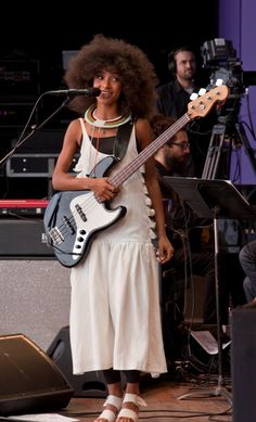 Esperanza Spalding, acclaimed double bass and electric bass player