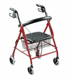Walkabout Folding Deluxe Lite Rollator with Loop Brakes Padded Seat and Basket, Red by Walkabout. Save 62 Off!. $76.30. Weighs 13 pounds. Comes with basket. Padded seat. Limited lifetime warranty. Loop brakes. The Walkabout Rollator is from Drive Medical, one of the country's fastest growing manufacturers of Durable Medical Equipment.  The rollator is equipped with loop brakes that can pulled up to stop or pushed down into a locked position. The all aluminum construction allows the…
